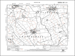 OXFORDSHIRE 002SE : old map of Mollington in 1923