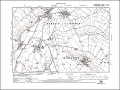 OXFORDSHIRE 002SW : old map of Horton in 1923