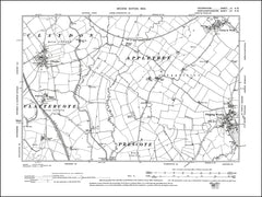OXFORDSHIRE 003SW : old map of Claydon, Clattercote in 1900