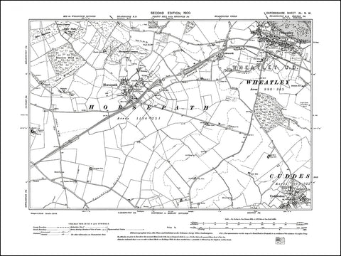 OXFORDSHIRE 040NW : old map of Wheatley, Horsepath, Cuddesdon in 1900