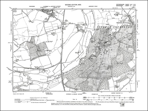 OXFORDSHIRE 045NE : old map of Nuneham Courtenay in 1900