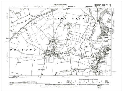 OXFORDSHIRE 045SW : old map of Culham in 1900