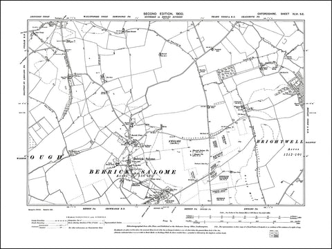 OXFORDSHIRE 046SE : old map of Berrick Salome, Benson (north) in 1900
