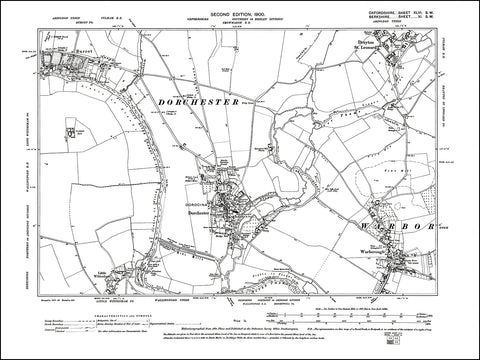 OXFORDSHIRE 046SW : old map of Dorchester, Burcot, Warborough, Drayton St Leonard in 1900