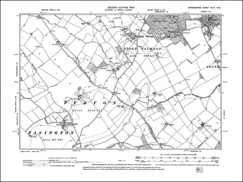 OXFORDSHIRE 047NW : old map of Easington, Stoke Talmage, Wheatfield, Adwell in 1900
