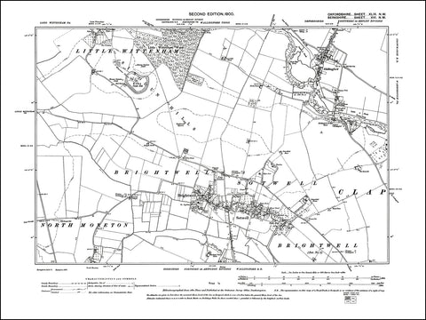OXFORDSHIRE 049NW : old map of Shillingford in 1900