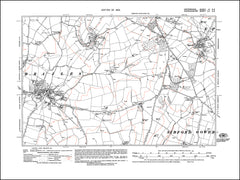OXFORDSHIRE 004SE : old map of Epwell in 1923
