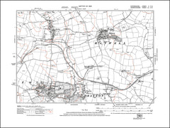 OXFORDSHIRE 005NE : old map of Drayton, Hanwell, Horley, Wroxton in 1923