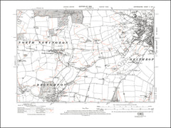 OXFORDSHIRE 005SE : old map of Banbury (west), Broughton, North Newington in 1923