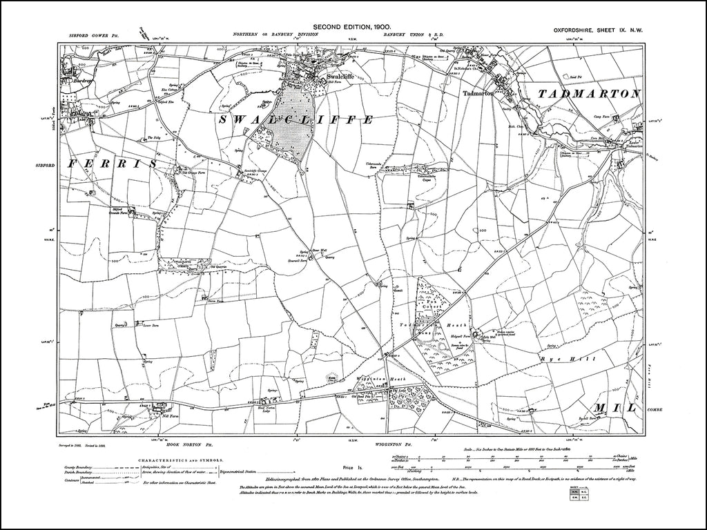 OXFORDSHIRE 009NW : old map of Swalcliffe in 1900