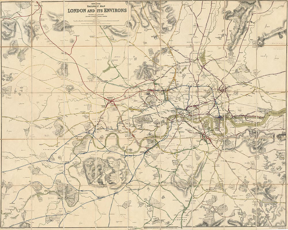 Official Railway Map of London & its Environs 1899
