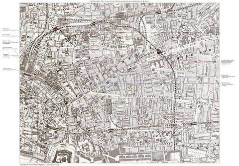 Jack the Ripper Activity Map, Whitechapel, London 1888