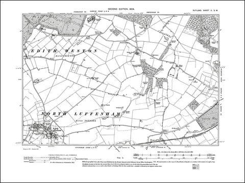 RUTLAND 010SW : old map of North Luffenham, Normanton Works in 1904