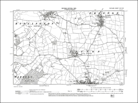 RUTLAND 013NW : old map of Uppingham (north), Ayston, Preston, Ridlington in 1905