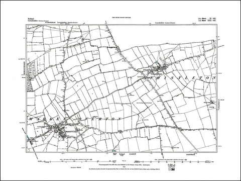 RUTLAND 002SW : old map of Market Overton, Thistleton in 1884