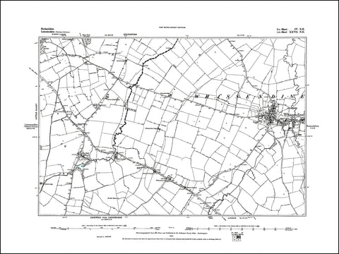 RUTLAND 004NE : old map of Whissendine in 1884