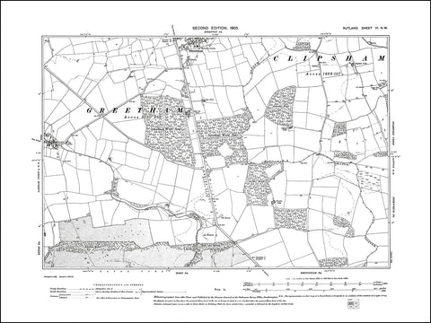 RUTLAND 006NW : old map of Stretton (south) in 1905