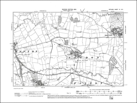 RUTLAND 009SE : old map of Lyndon, Edith Weston, Wing (north), Manton (east) in 1905