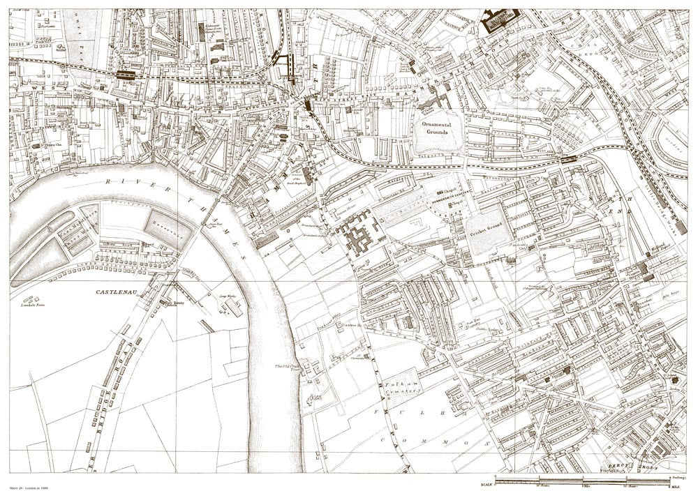 Hammersmith Castlenau North End In 1888 Old Towns Maps
