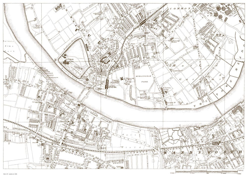 Fulham Putney Parsons Green Wandsworth In 1888 Old Towns Maps
