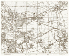Barking, Ilford, Forest Gate (London & Suburbs 1888 Sheet 21)
