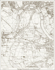 Barnes, Putney (W), Chiswick (London & Suburbs 1888 Sheet 25)