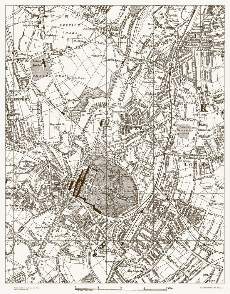 Penge, Crystal Palace, Forest Hill (London & Suburbs 1888 Sheet 39)