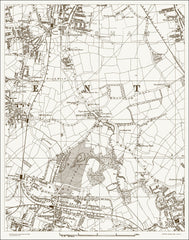 Beckenham (N), Bromley (NW) (London & Suburbs 1888 Sheet 40)