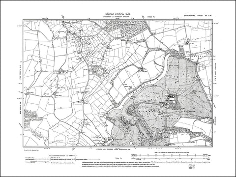 SHROPSHIRE 015SW : old map of Hawkstone, Preesgreen in 1902