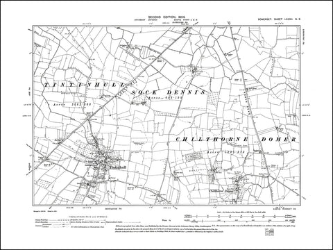 SOMERSET 082NE : old map of Tintinhull, Chilthorne Domer in 1904