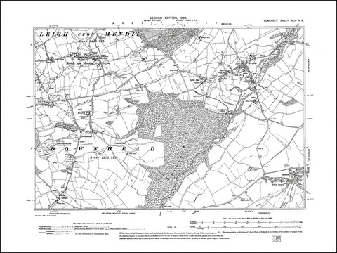 SOMERSET 042NE : old map of Leigh upon Mendip, Downhead, Chantry in 1904
