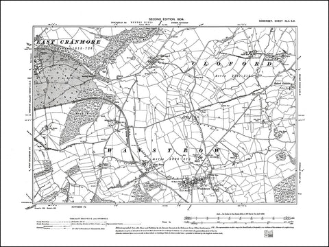 SOMERSET 042SE : old map of Wanstrow, Cloford, Leighton in 1904