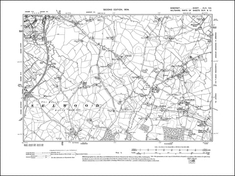 SOMERSET 043NE : old map of Frome (southest) in 1904