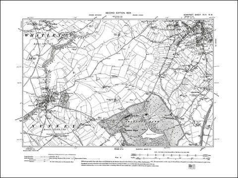 SOMERSET 043NW : old map of Frome (southwest), Nunney, Whatley in 1904