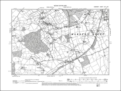 SOMERSET 043SW : old map of Truddoxhill in 1904