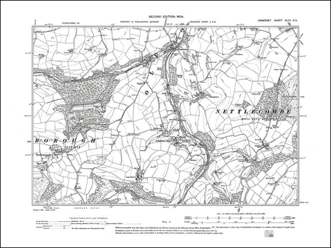 SOMERSET 047SE : old map of Treborough, Leighland Chapel, Roadwater in 1904