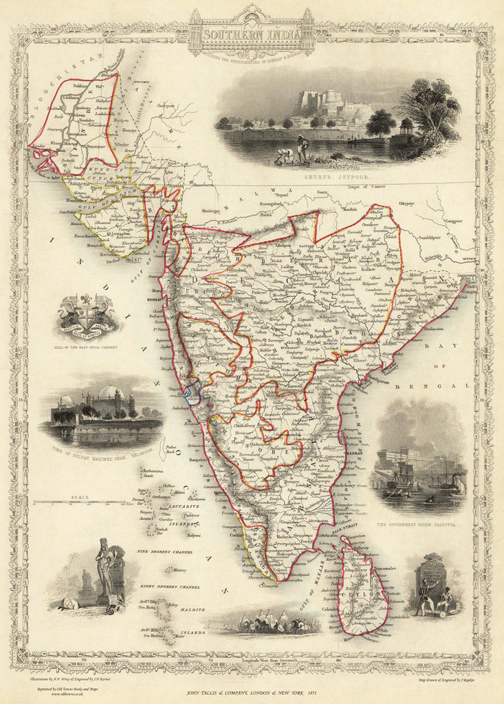 Southern India in 1851