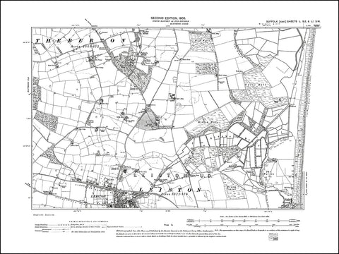 SUFFOLK 050SE-051SW : old map of Leiston (north), Potter's Street in 1905