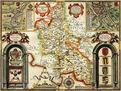 Buckinghamshire (John Speed 1610)