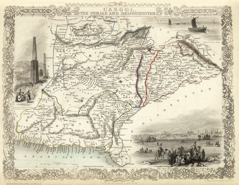 Cabool, The Punjab and Beloochistan in 1851