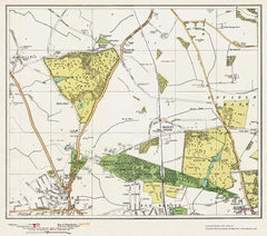 Barnet (north), New Barnet (north) & Hadley Wood area (London 1932 Sheet 3-4)
