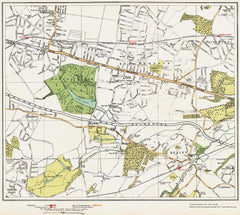 Bexley, Bexleyheath, Welling area (London 1932 Sheet 99-100)