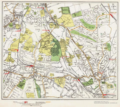 Beckenham, Bromley, Downham area (London 1932 Sheet 111-112)