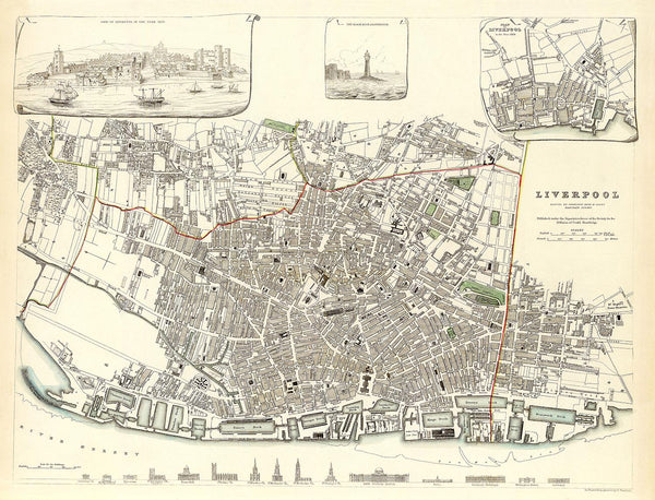 An old map of Liverpool in 1836 - Old Towns Maps