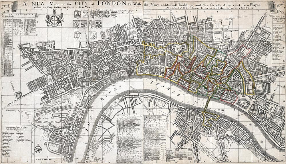 Old Map Of London The Strangers Guide To London And Westminster By Edward Mogg 1806 Old Towns Maps