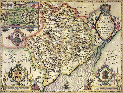 Monmouthshire (John Speed 1610)