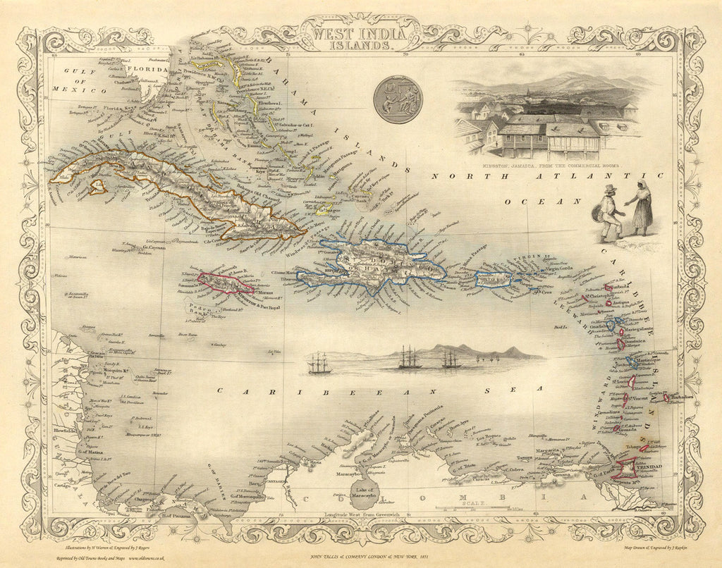 West Indies Islands in 1851
