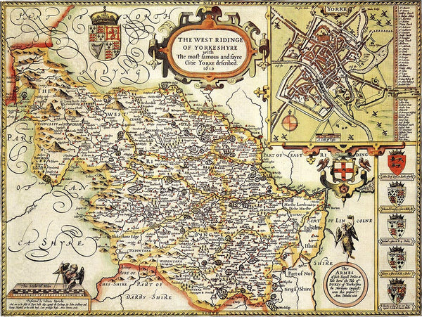 yorkshire west riding in 1610  u2013 old towns maps