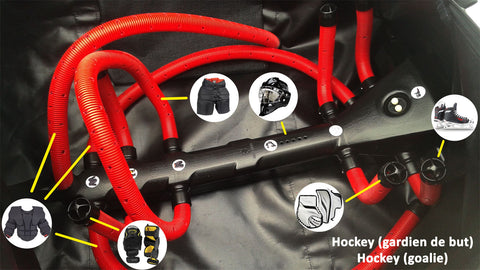 Technologie DRYSNAKE pour sac hockey gardien / DRYSNAKE Technology for Hockey goalie bag