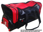 DRYSNAKE hockey player deluxe wheel bag redblack